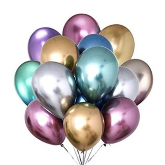 Multicolor HD Metallic Balloons