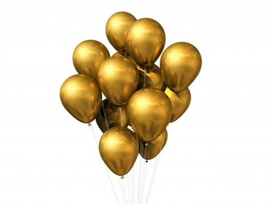 Golden Chrome Balloons