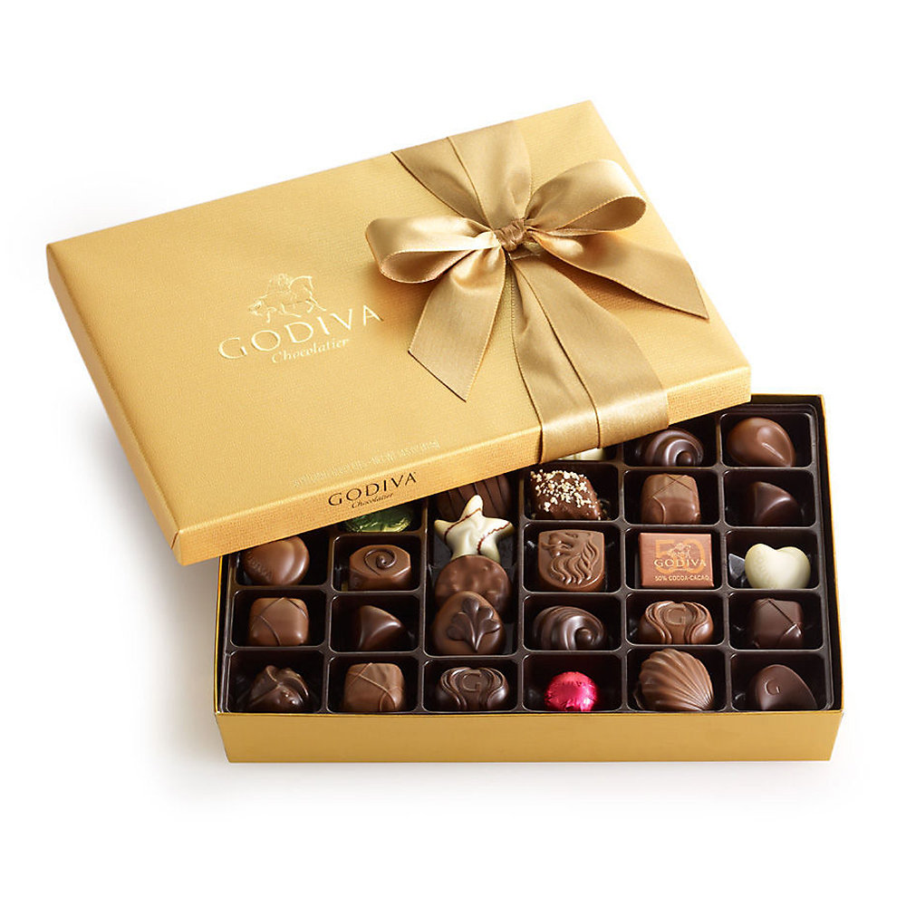 Assorted Chocolate Gold Gift Box 36Pcs