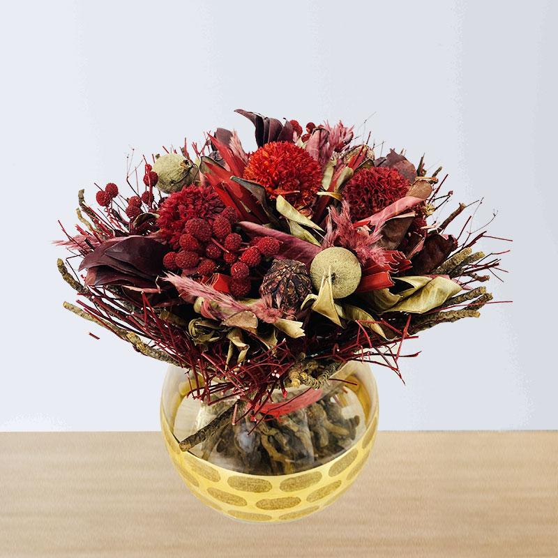 Red or Maroon Dry Flowers