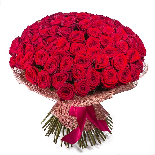 Big red Roses Bunch