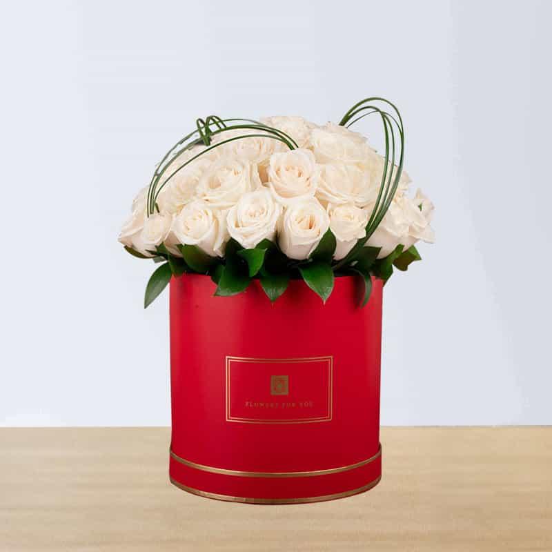 Beautiful White Rose Arrangement