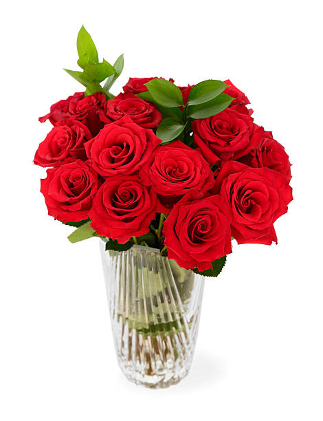 Delightful Red Roses Vase