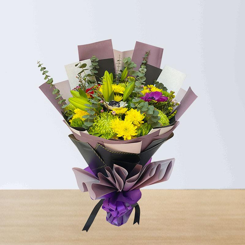 Crystal Chrysanthemums Bouquet