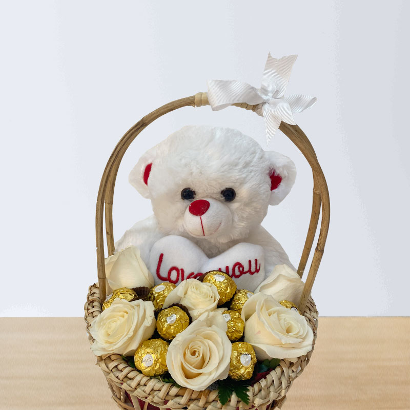 Ferrero and Teddy Basket