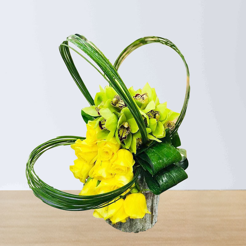 Yellow and Green Boquet