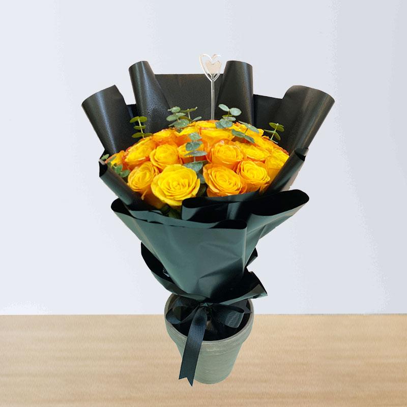 Orange Roses Hand Bouquet