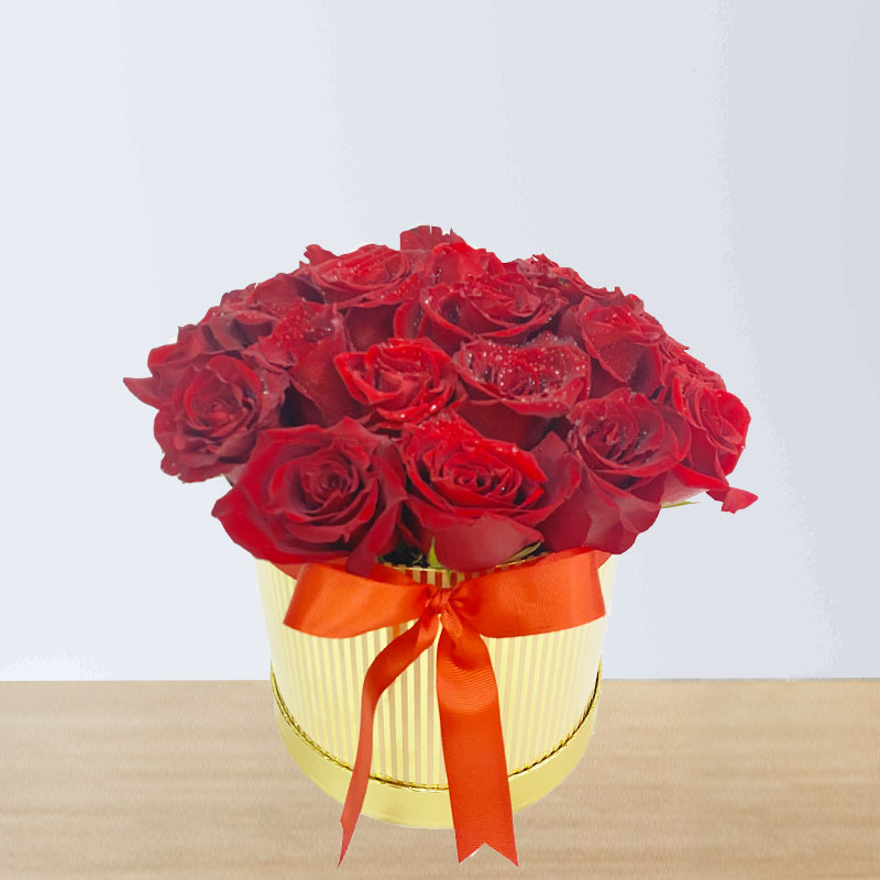 20 Red Roses Box