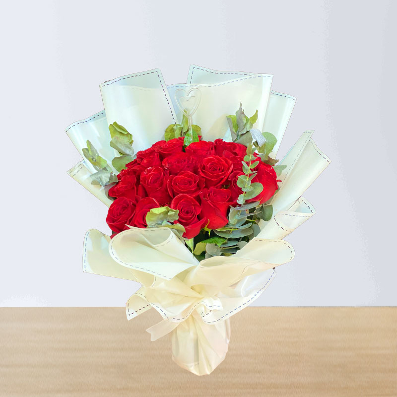 Graceful Red Rose Bouquet