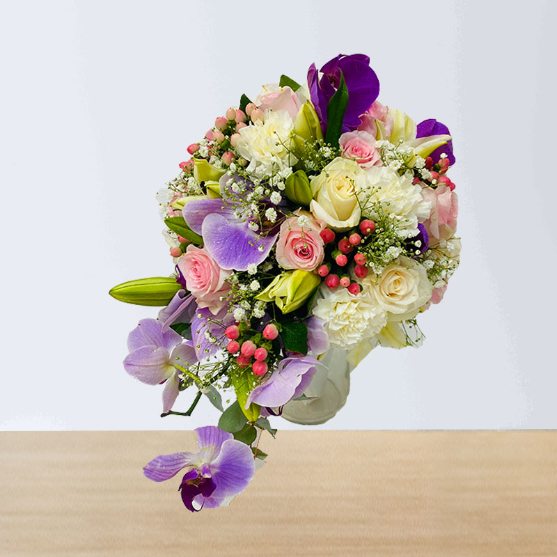 Mixed Color Wedding Hand Bouquet
