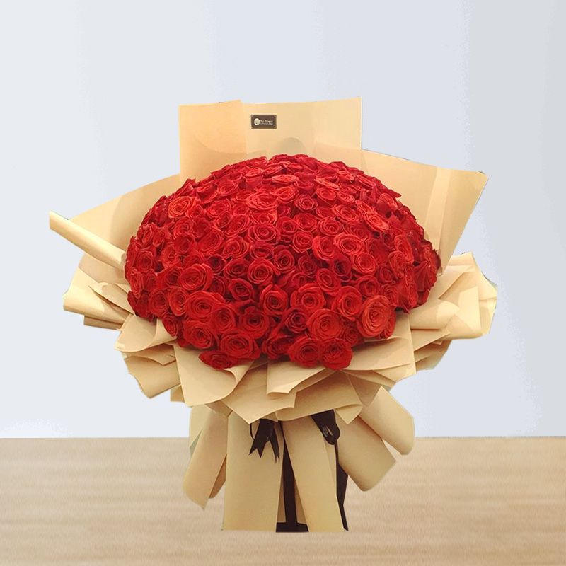 70 Red roses Hand Bouquet