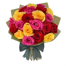 Long Stem 24 Mixed Roses