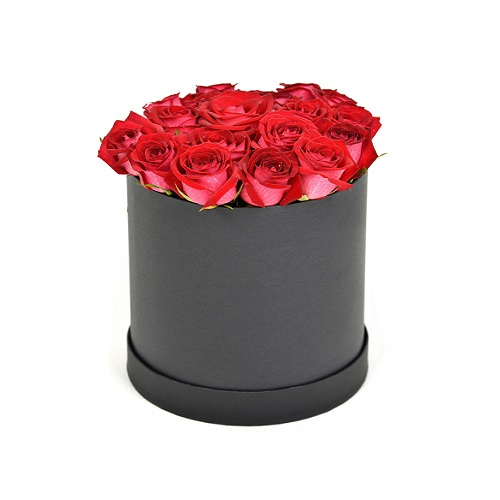 Modern red roses bouquet