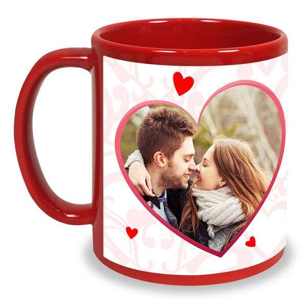 Personalized Heart Shaped Photo Mug