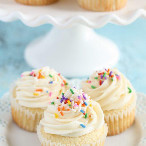 Vanilla-cupcake With Sprinkles