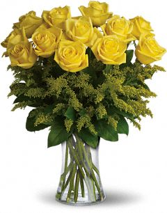 Vase with Yellow Roses.