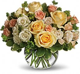 Vase with 40 Stems of Yellow & White roses