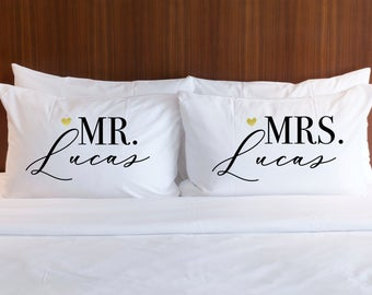 Lovely Husband And Wife Pillow
