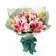 Mixed Roses & Lilies