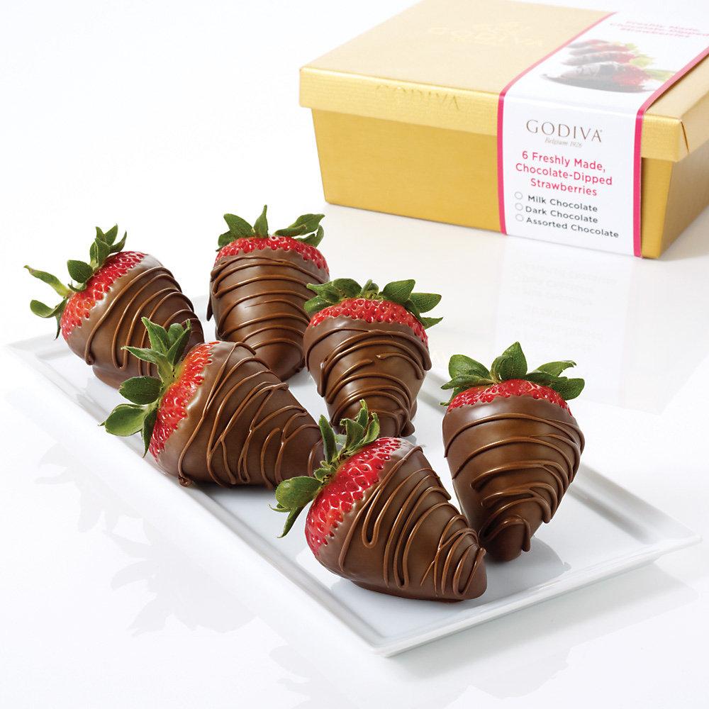 Milk Chocolate Covered Strawberries, 6 Pcs