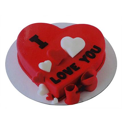 1kg Valentine Heart Cake