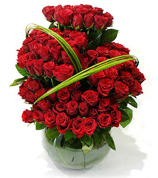 Bunch with  100 Red Roses